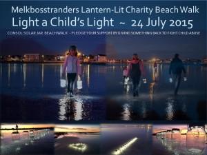 Melkbosstranders lantern-lit charity beach walk